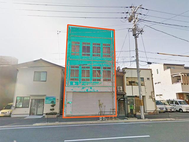 下京区中堂寺:七本松通面す