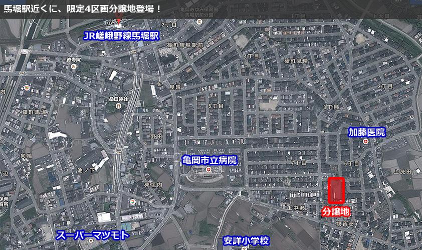 馬堀駅近くに限定4区画